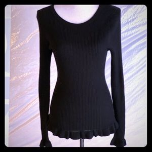 Hooked up juniors small knit sweater ruffles